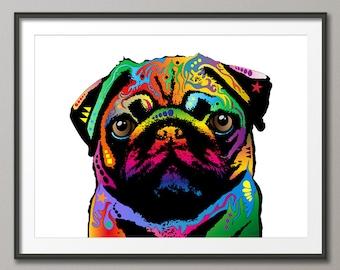 Pug Dog, Pop Art Print (25)