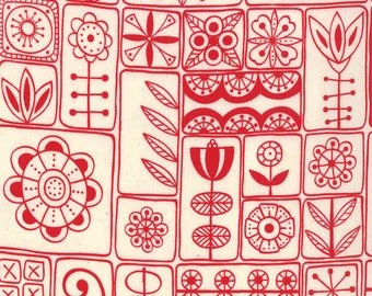 1/2 Yard - SUMMERSVILLE Red by Lucie Summers for Moda Fabrics.