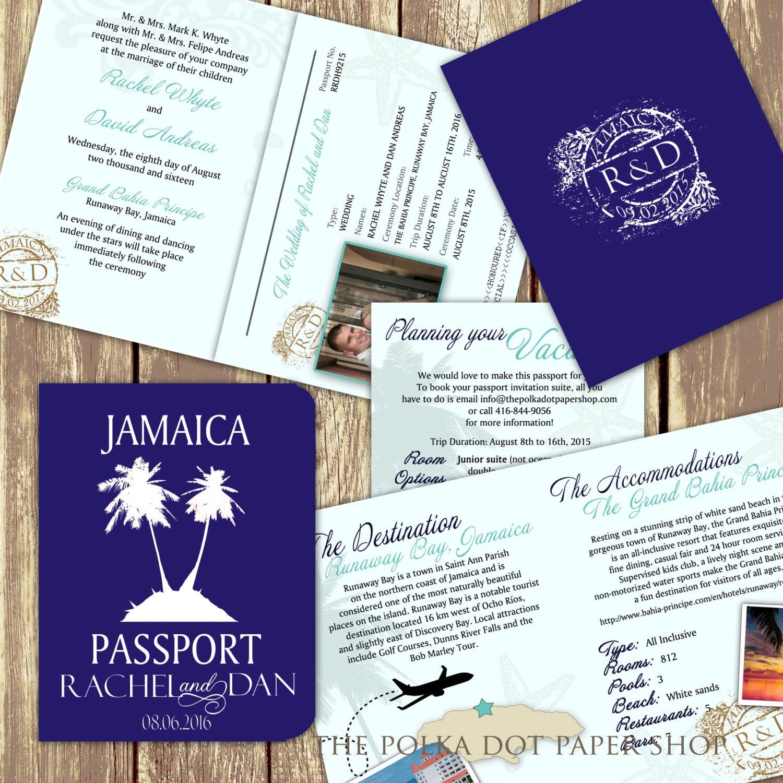 High End Elegant Wedding Invitations Disney World: Passport Wedding Invitation / High-End By PolkaDotInvites