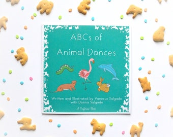 ABCs of Animal Dances Book by Crafterina - Holiday Present - Ballet Themed - Christmas Gift - Children - Animals - Dance