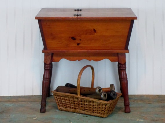 Petite Vintage Dough Box Table End Table Night Stand