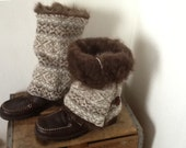 Repurposed Wool Sweater, Boot Huggers, Boot Wrap,Boot Sweater, Leg Warmers