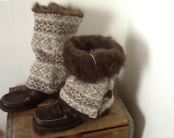 Repurposed Wool Sweater, Boot Huggers, Boot Wrap,Boot Sweater, Leg Warmers