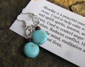 Howlite Turquoise Stone Earrings FREE Shipping on Orders over 20 Calming Stone ID Card Included