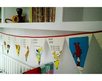 Hop on Pop by Dr Seuss Book Bunting// Party/Room Decor