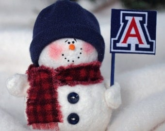 Arizona Wildcats Snowman Ornament
