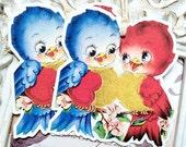Love Birds Valentine Gift Tags (6) Retro Valentine Card-Shabby Valentine Tag-Favor Tag-Treat Tags-Classroom Valentine-Tags for Valentine's