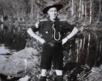 Original Antique Photograph The Accomplished Scout