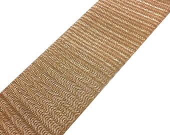 Dull Gold Crochet Weaving Wide Gota - Sari Border - Gota Ribbon for Wedding Lehenga Dresses - Raw Silk Border