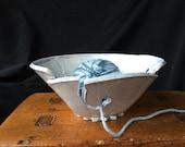 Blue Handmade Ceramic Yarn Bowl