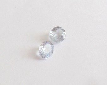 Natural Platinum Blue Sapphire, Oval Cut, Lot (2) of 2.00 Carats