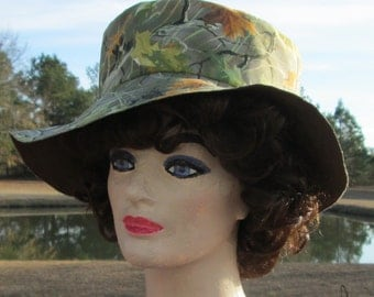 Homemade Green Woodsy Camouflage Floppy Hat
