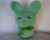 Crocheted Amigurumi Love Bunny