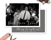 Newlywed Christmas or Holiday Photo Card--First Married Christmas, Best Year Ever!
