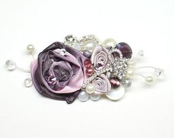 Plum Bridal Comb- Purple Hair Clip- Bridal Hairpiece- Eggplant Hair Comb- Wedding Hair Accessory- Purple Hairpiece- Bridal Hair Accessories