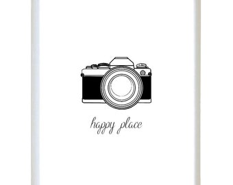 Instant Download -  Happy Place Camera Photography Photographer Shoot - Poster Wall Art Print Home Decor Typography