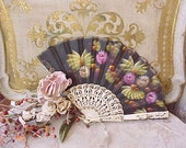 Gorgeous Hand Painted Ladies Hand Fan