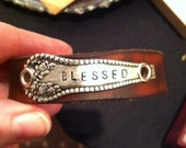 Personalized Spoon on Leather Cuff Bracelet