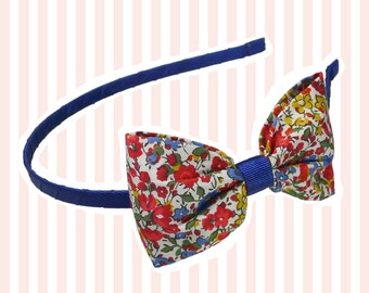 Liberty Print Floral Bow Hairband
