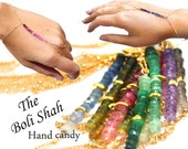 Gurlcha Beaded finger Bracelets.  Gemstone Slave bracelets. Gold filled or sterling silver jewelry. boli shah MimsyB.