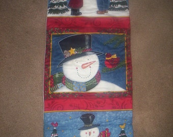 HAND QUILTED Snowmen wall hanging