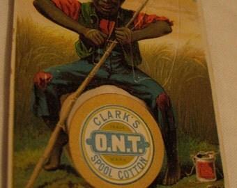 1880s Clark's Spool Cotton Advertising/Black Americana Card