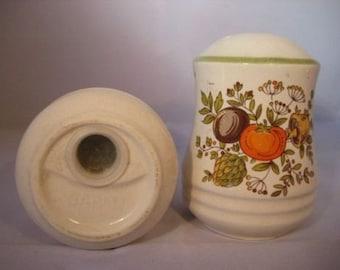 Harvest Autumn Salt & Pepper Shakers Vegetable Medley Japan Vintage Retro