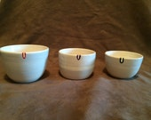 Reserved for Elizabeth- Set of 4 Teacups with Bag Holders