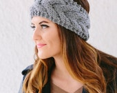 Cable Knit headband in YOUR COLOR CHOICE