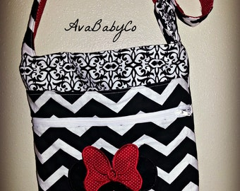 Disney Minnie Inspired Crossbody Hipster Bag