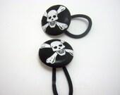 Yo ho ho-Jolly Roger-Skull Punk Pirate Hair Elastics