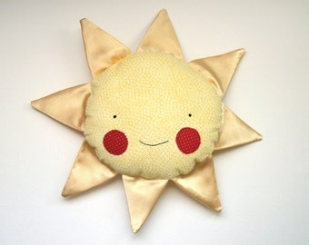 sunshine pillow: Sunny, satin shine, rosey rag doll
