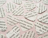 500 Harry Potter Novel Book Confetti - Vintage Wedding Table Decoration - Paper Hearts Butterflies Stars