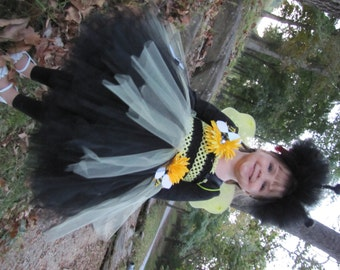 Sample sale 3-5T Bumble Bee costume, Bumble Bee, Bumble Bee Tutu,  Bumble Bee Tutu Dress, Tutu Costume, bee Costume