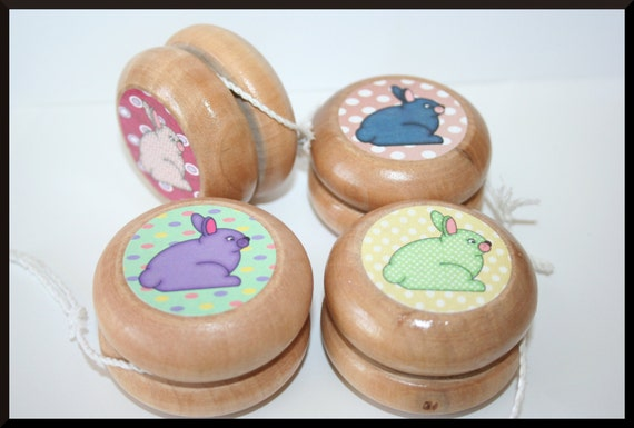 Bunny Yo-Yo, Rabbit Toy Yo-Yo- Kids, Wood Yo-yo, Easter Gifts, Gift for Boy, Gift for Girl- Classic Toy- Paryt Favor