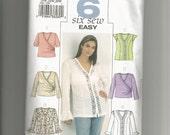 Butterick Blouse Pattern 3784 Women size 16W 18W 20W
