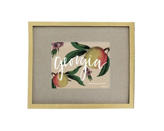 Georgia The Peach State Art Print
