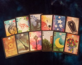 "The ""Moonshadow Lenormand"" card deck by AlyZen Moonshadow"