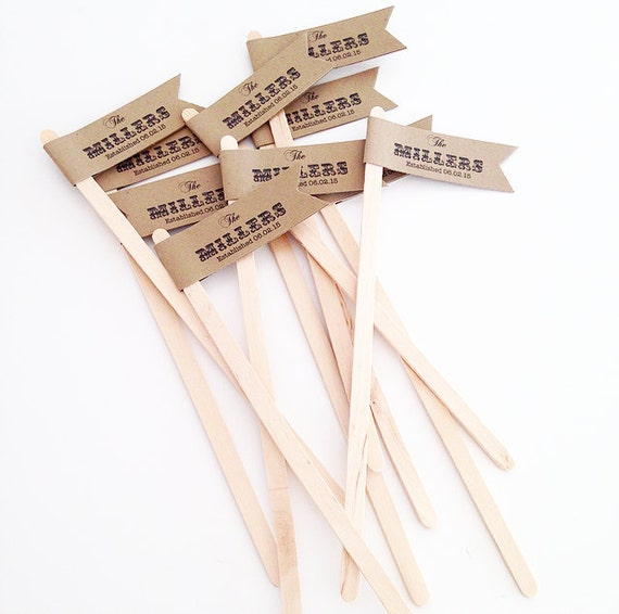 Free Shipping Custom Just Married Drink Stir Sticks/Wedding/Pick Your Colors/Rustic/ burlap/bridal shower/miss to mrs/ happily ever after