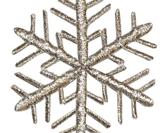 ID #8111 Snowflake Winter Season Ice Holiday Embroidered Iron On Applique Patch