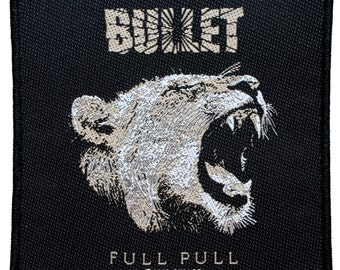 """Black Frame """"Bullet"""" (Hard Stuff) Band Full Pull Album Art Sew On Applique Patch"""