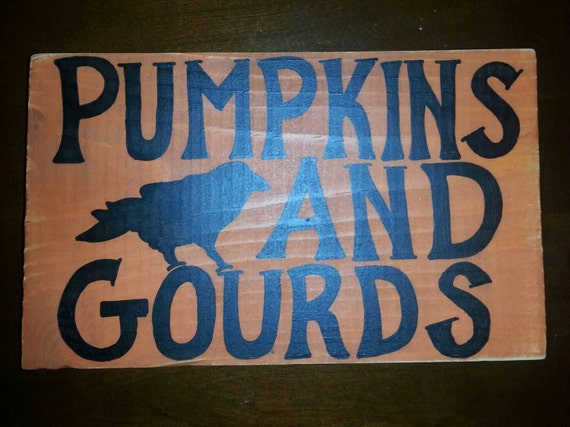 Pumpkins and Gourds - Fall sign