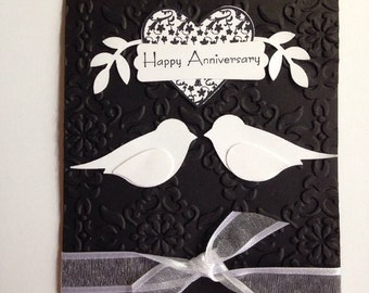 Stampin' Up Classy Black and White Anniversary Card