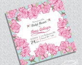 Printable baby shower Invitation or Bridal Shower/ tea party / birthday party / FILE ONLY