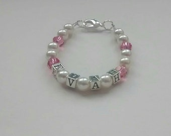 Jewelry - Infant/Toddler Keepsake Bracelet with Birthstone Crystals