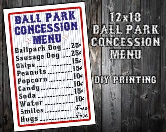 Juicy image for concession stand signs printable