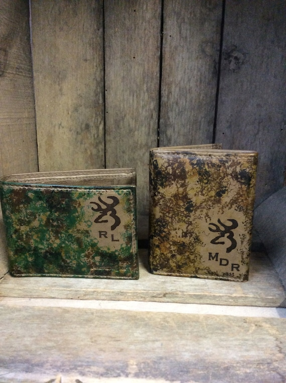 Cano deer Genuine Leather Trifold Wallet.  great gift for the hunter!