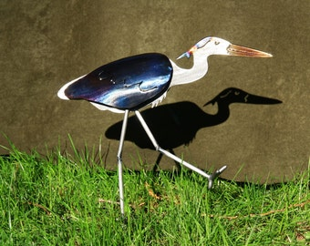 Small Great Blue Heron Sculpture