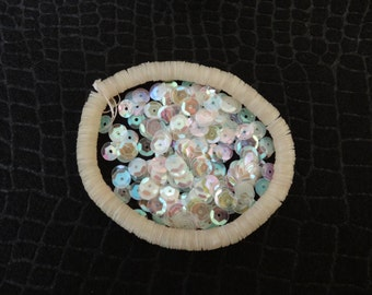 Opalescent Sequins In a String - QTY 1000 - Color AB