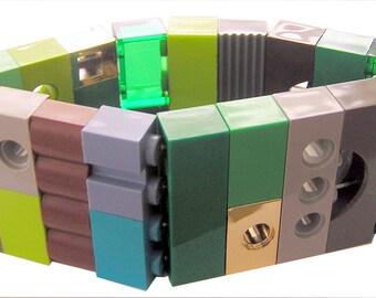 SWAG Hip Hop Camo bracelet - made from LEGO (R) bricks on stretchy cords